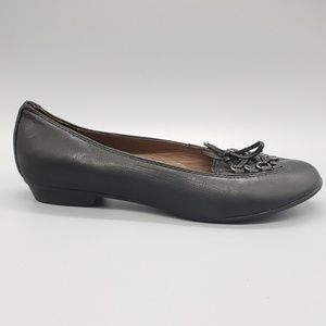 Geox Respira black lace up ballet flats SZ 6.5